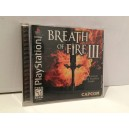 Breath Of Fire III Sony Playstation PS1 US