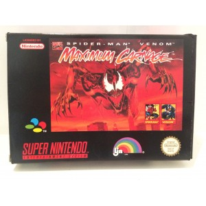 Spiderman Maximum Carnage Nintendo Super NES SNES Pal