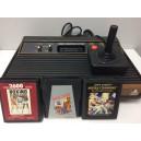 Console Atari 2600 Woodgrain Peritel (Scart) + 3 Jeux Loose